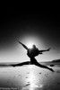 Taken on a beach in Santa Cruz, California.  This must have been in winter as I think we were there to see the butterflies.<br /> <br /> Jaz was in a dance class at school and did some jumps for me against the sun.