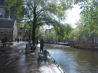 Canal in front of Anne Frank's house/warehouse/museum