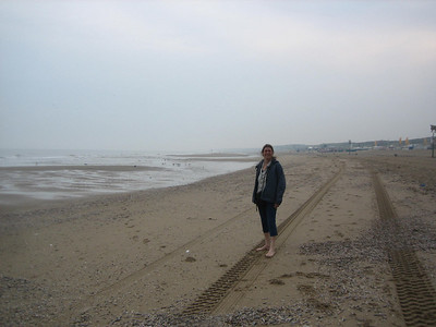 Jean and I enjoyed collecting shells on this beach at Scheveningen, Holland