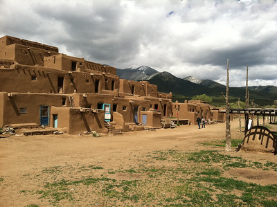 On May 20th we drove to Taos, intending to spend some time at the library, but it was closed. We went instead to visit the Taos Pueblo.