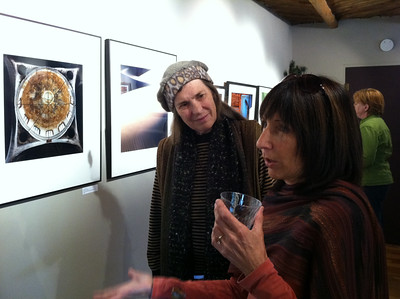 Jean's friend Terri was exhibiting two photographs in the show.  The theme was Geometries.  See Terri's photo, left, of a domed ceiling in the Ukraine.