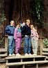 1991-05-18 Kent, Jean, Suzanna, Chris & Kirsten in Redwoods
