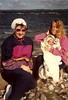 1990-07 Suzanna, Jean & Kirsten in Denmark, Baltic Sea in Background