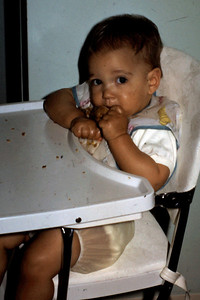Nine months - chowing down