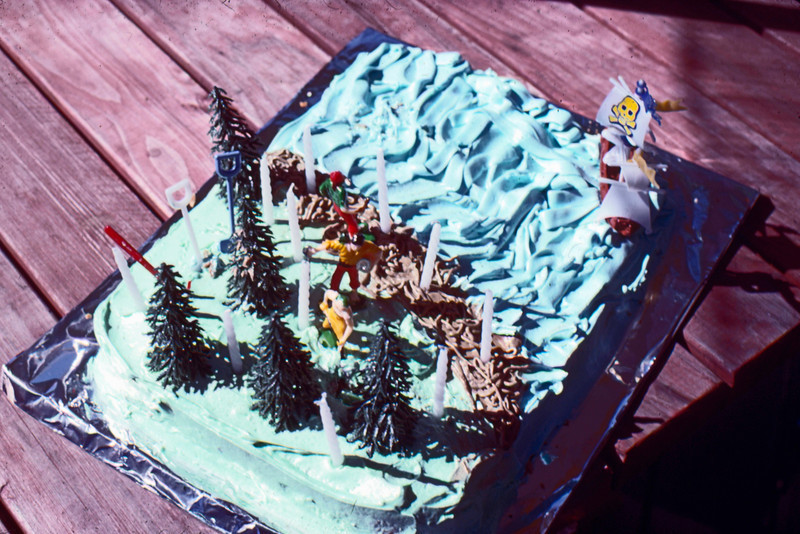 1980-07-10 - 11th Birthday cake