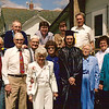 front: Cal Steen, Gpa Voas, Gpa Beatty, Gma Voas, Fern Stein, Jeff, Gma Beatty, Aunt --, Jo; back: Larry, Lori's Mom (?), Lori Fuks, Dwaine