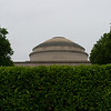 The great dome behind the hedge.