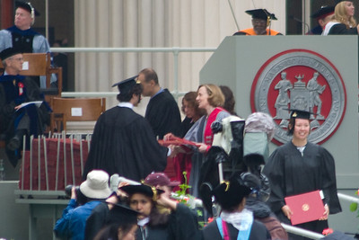 Jeff going up to get his diploma from the President of MIT.