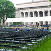 The chairs for the graduates.