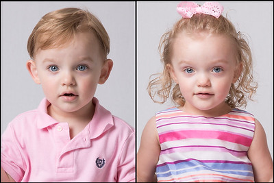 Grace and Teddy - 2 years old
