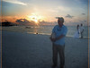 Sunset on Sunset Key - Jen and Shawn and Harold - Wedding on the Beach<br /> photo courtesy of Rose D. Lovell