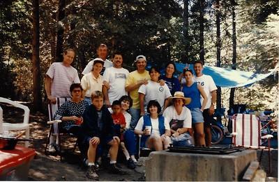 Family campout near Lake Arrowhead.