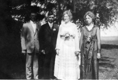 Martin and Minnie were married in 1919 at Lake Mills, Iowa