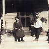 Catherine and Fritz Sr, sitting on the steps of their house in Los Angeles, early teens