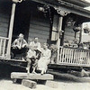 Fritz and Catherine with a young Carl and Anthony Jensen (Opa's brother),<br />  upon moving the house to the property on 60th Street in Los Angeles. This was taken in the early to mid teens.