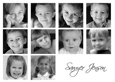 5x7 collage of grandchildren
