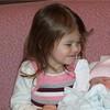 Big sister Ellie with news sister Emma