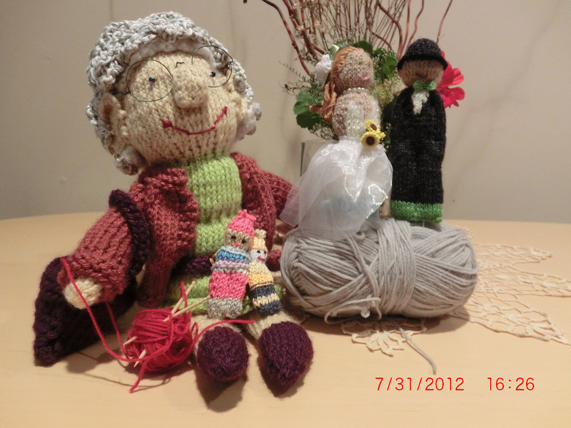 Oma, her pocket buddies, Jess and Tom.