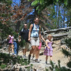 Johnson clan members hiking