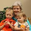 Rowan and Ariana Fitzgerald with great grandma Helga Hanson