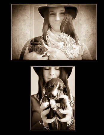 Jessica Wales and little Dash whippet 2014