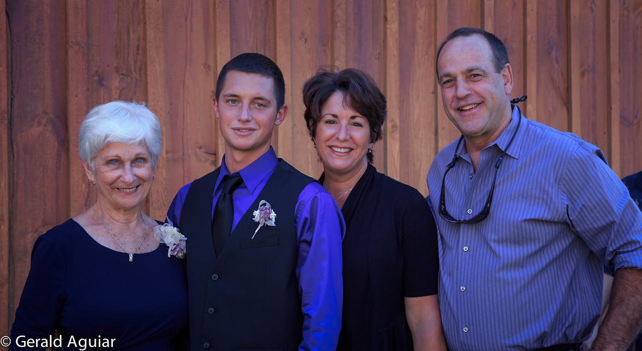 Mom, Jake, Lauri, and her husband Mark.