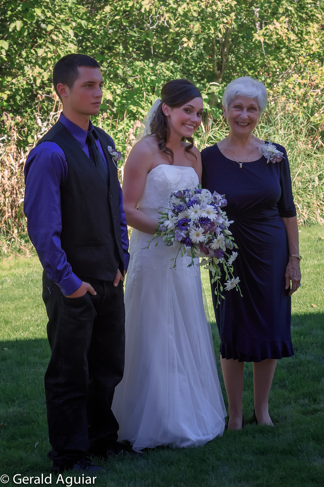 Jessie Jo, her brother Jake, and her Ava before the wedding.