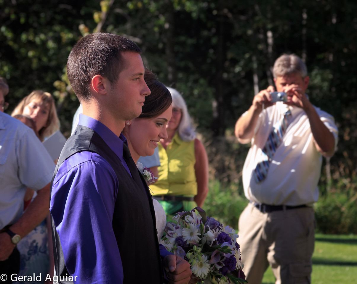 Jake and Jessie Jo walking down the aisle.  Jake gave his sister away.