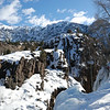 The view at the Ouray Ice Climbing Park.