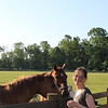 Cathy and the horses