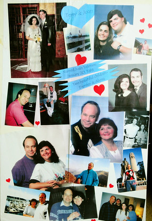 Photo boards from Terry's service
