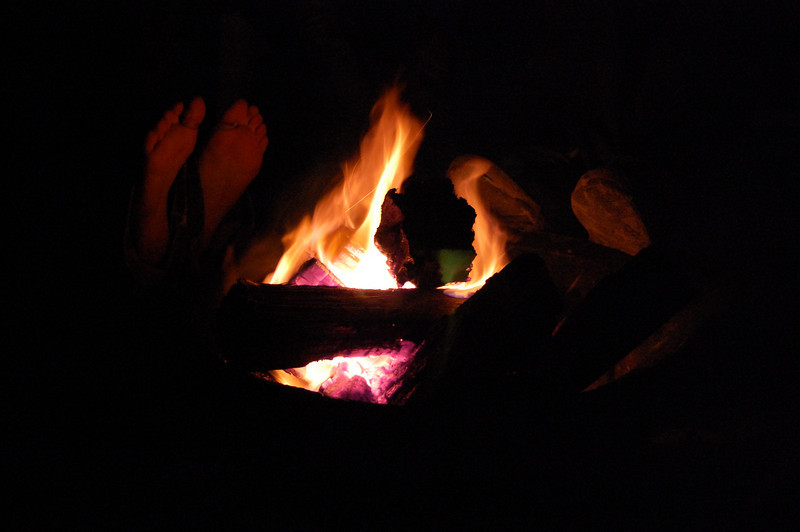 had a nice campfire by the sand dune