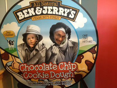 Ben & Jerry's photo board