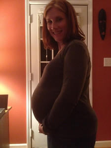 Susan pregnant at 36 weeks