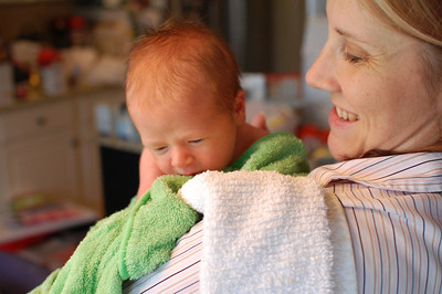 Alert after his first bath.