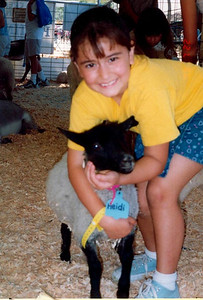 We saw this lamb at the fair around the same time Joelle was playing Heidi...