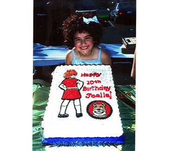 Joelle turns 10 during Annie 2000