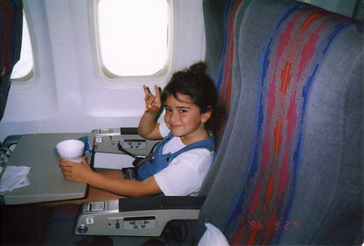 flying home to Ca 1996