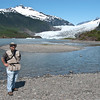That's me, in front of the Mendenhal glacier.