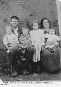 Irene, John N, Iva, Lynn, Carrie & John D. Rainwater, abt 1919