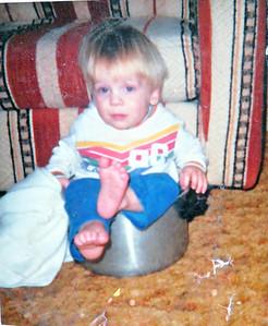 Joe in a pot (best picture ever!)