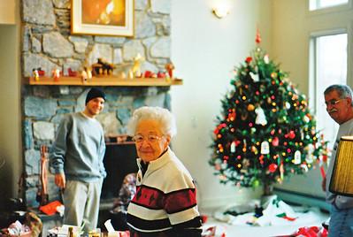 Pat, Gran gran, and Dad at Christmas '03 or '04