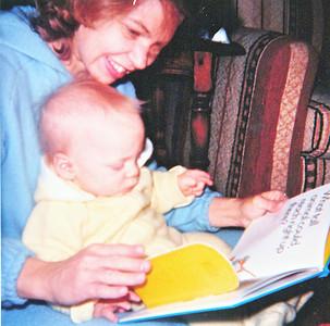 joe and mom reading