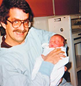 newborn joe with steve