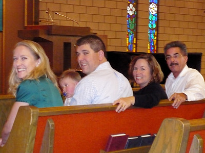 Joey with his parents and Godparents