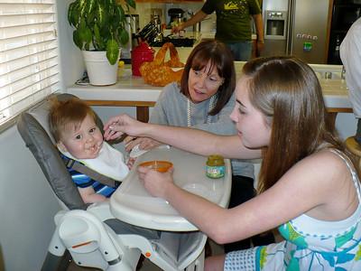Aunt DD & Cousin Annie feed Joey