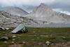 Camping on Sapphire Lake before Muir Pass