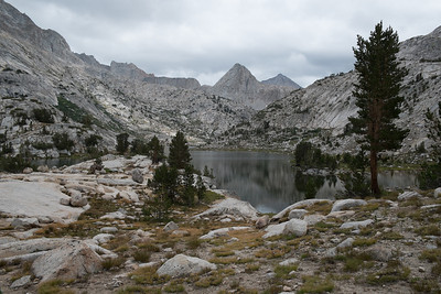 Evolution Lake (10,852') and threatening skies