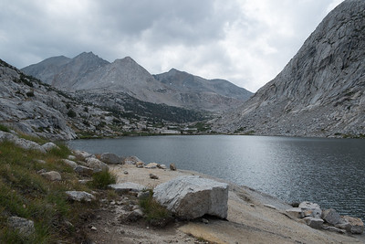 Palisades Lakes.  A good long food and water break here before heading further up towards Mather Pass