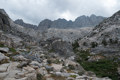 Somewhere up their is Mather Pass (actually it's around to the right)